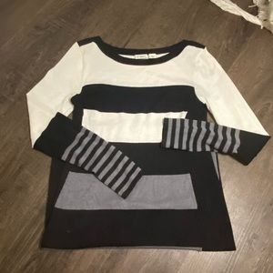Cato long sleeve bodycon striped dress small